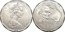 Australia 50 Cents 1970 - 200th Anniversary - Captain Cook's Australian Voyage KM#69 VF (1)