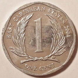 East Caribbean States 1 Cent 2002-2013 KM#34