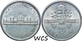 Hungary 5 Pengö 1945 KM#525 XF