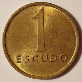 Portugal 1 Escudo 1981-1986 KM#614