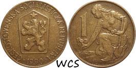 Czechoslovakia 1 Koruna 1961-1990 KM#50