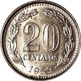 Argentina 20 Centavos 1957-1961 KM#55