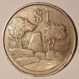 Zimbabwe 1 Dollar 1980-1997 KM#6