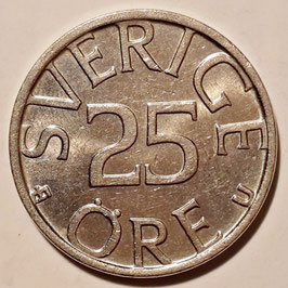 Sweden 25 Öre 1976-1984 KM#851
