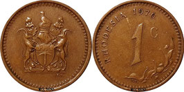 Rhodesia 1 Cent 1970-1977 KM#10