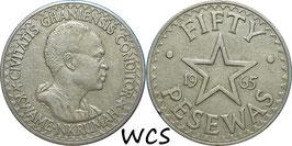 Ghana 50 Pesewa 1965 KM#11 VF+