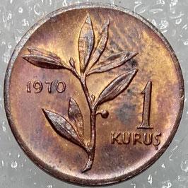 Turkey 1 Kurus 1963-1974 KM#895a