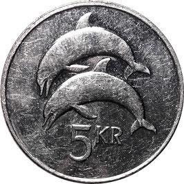Iceland 5 Kronur 1996-2008 KM#28a
