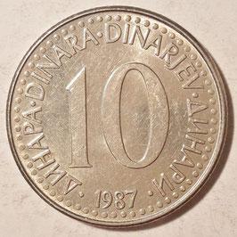Yugoslavia 10 Dinara 1982-1988 KM#89