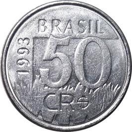 Brazil 50 Cruzeiros Reais 1993-1994 KM#629
