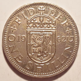 Great Britain 1 Shilling 1954-1970 Scottish KM#905