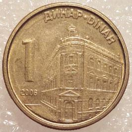 Serbia 1 Dinar 2005-2009 non magnetic KM#39