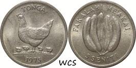 Tonga 5 Seniti 1975 F.A.O. KM#44 XF