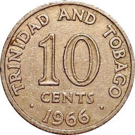 Trinidad and Tobago 10 Cents 1966-1972 KM#3