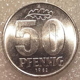 GDR 50 Pfennig 1958-1990 KM#12