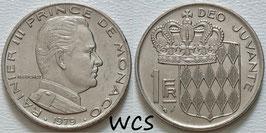 Monaco 1 Franc 1979 KM#140 XF