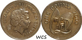 Guernsey 1 Pound 2003 KM#110 XF