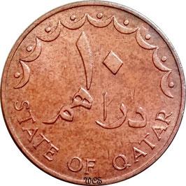 Qatar 10 Dirham 1973 KM#1 XF