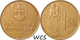 Slovakia 1 Koruna 1993-2008 KM#12