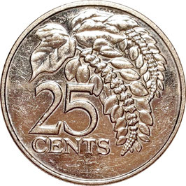 Trinidad and Tobago 25 Cents 1976-2016 KM#32