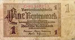 Germany 1 Rentenmark 30.07.1937 Ro 166b Series: C