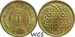 Guyana 1 Cent 1967-1992 KM#31