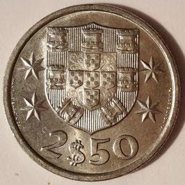 Portugal 2,50 Escudos 1963-1985 KM#590
