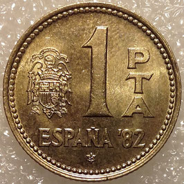 Spain 1 Peseta 1980 FIFA World Cup 1982 KM#816