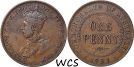 Australia 1 Penny 1921 KM#23 VF-