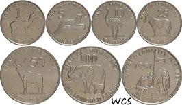 Eritrea 1-100 Cents 1997 UNC Set