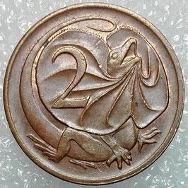 Australia 2 Cents 1966-1984 KM#63