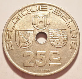 Belgium 25 Centimes 1938-1939 BELGIQUE - BELGIE KM#114.1