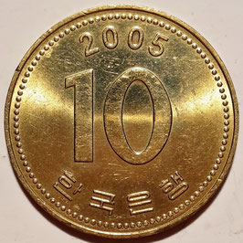 South Korea 10 Won 1983-2006 KM#33