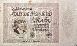 Germany 100000 Mark 01.02.1923 Ro 82d (P) F