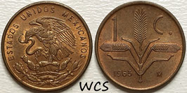 Mexico 1 Centavo 1950-1969 KM#417