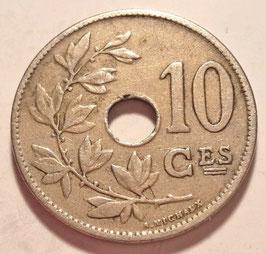 Belgium 10 Centimes 1911-1929 BELGIQUE KM#85.1