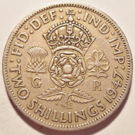Great Britain 2 Shillings (Florin) 1947-1948 KM#865