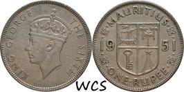 Mauritius 1 Rupee 1951 KM#29.1 VF