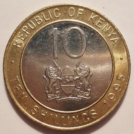 Kenya 10 Shillings 1994-1997 KM#27