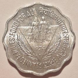 India 10 Paise 1974 Bombay - F.A.O. KM#28 XF