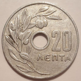 Greece 20 Lepta 1954-1971 KM#79