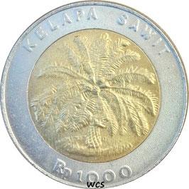 Indonesia 1000 Rupiah 1993-2010 KM#56