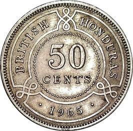 British Honduras 50 Cents 1965 KM#28 VF