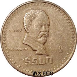 Mexico 500 Pesos 1986-1992 KM#529