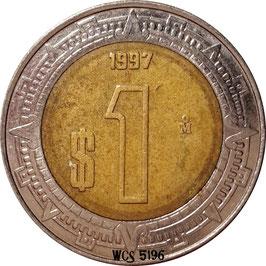 Mexico 1 Peso 1996-2016 KM#603