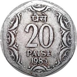 India 20 Paise 1982-1997 KM#44