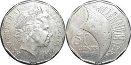 Australia 50 Cents 2000 - Millennium Year KM#488.1 VF+
