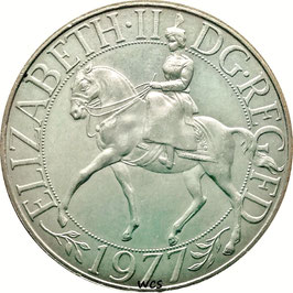 Great Britain New 25 Pence 1977 - 25th anniversary of Accession of Queen Elizabeth II  KM#920 XF