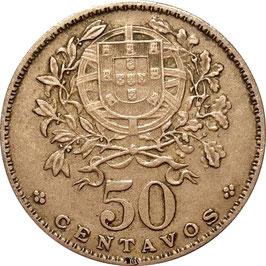 Portugal 50 Centavos 1927-1968 KM#577