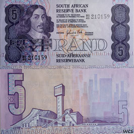 South Africa 5 Rand 1984-1990 P.119c